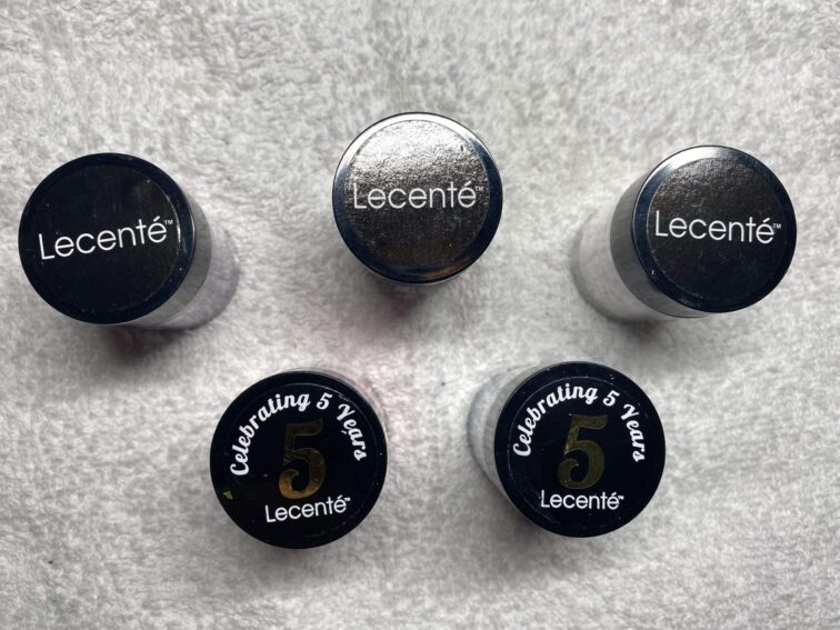 Brand selection - what am I using and why? - Lecente glitter tubs